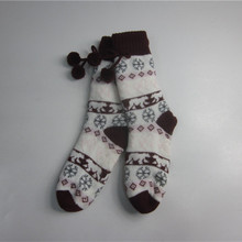 Warme High Quality Bow Tie Jacquard Floor Socks