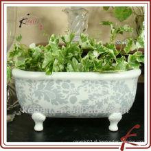 China Fábrica de porcelana cerâmica banheiro acessório flor vaso