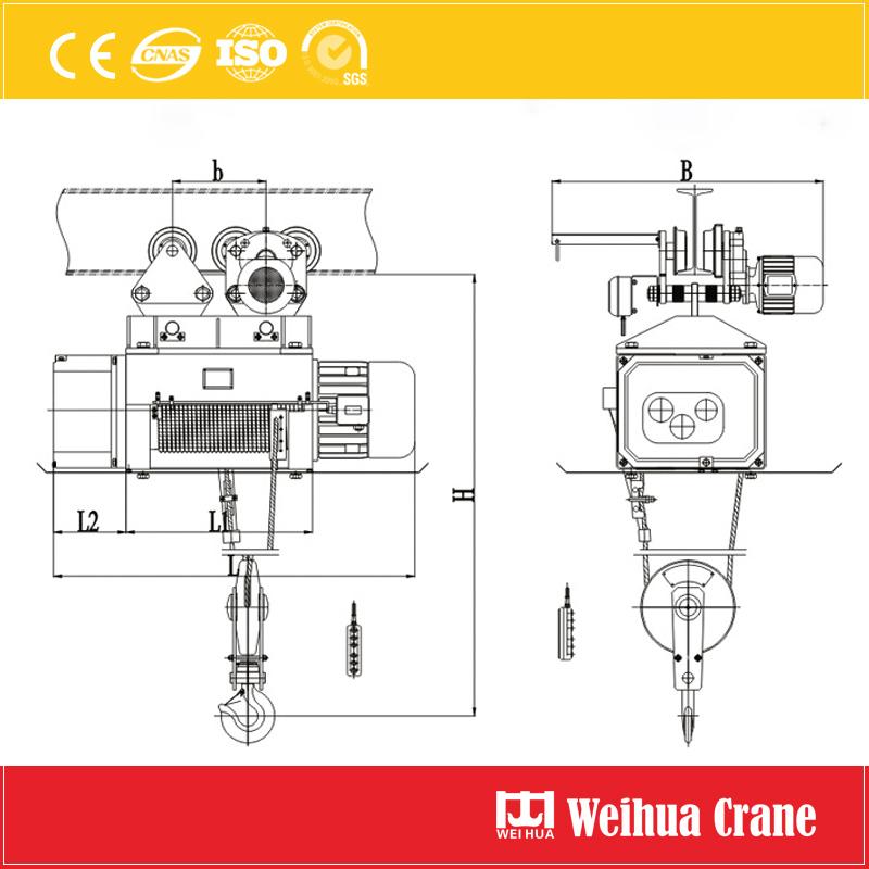Metallurgy Electric Hoist Drawing