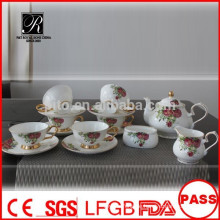 P & T 2015 neue Produkt Knochen China Tee-Set Kaffee-Set Hochzeitsfeier
