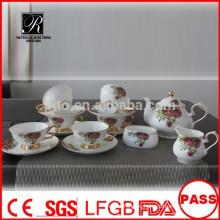 P & T 2015 новый продукт кость фарфор чайный сервиз кофейный набор свадьба