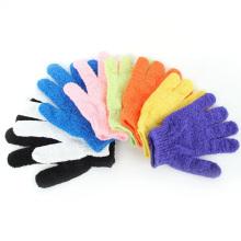 Removedor de la célula de la piel muerta del depurador de baño de nylon, guantes del baño de la ducha del masaje guantes exfoliantes