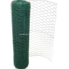 Treillis métallique hexagonal enduit de PVC de haute qualité