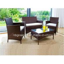 Todo el tiempo simple estilo ratán mimbre patio al aire libre conjunto de muebles