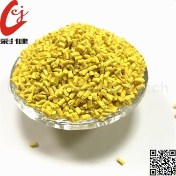 PVC Yellow Wire Masterbatch Butiran