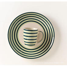 Ceramic handpainted dinner plate ceramic mug