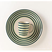 Ceramic handpainted dinner plate ceramic mug