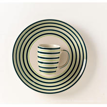 Caneca de cerâmica cerâmica handpainted jantar placa