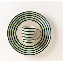 Taza de cerámica de la placa de cena de cerámica pintada a mano