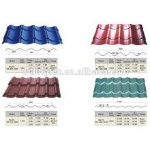 Preços de telhas de aço de telhado de alta qualidade