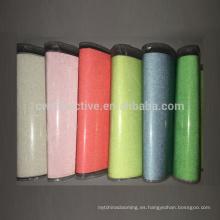 resplandor de tela reflectante de nylon multicolor en la tela reflectante sol oscuro y plateado