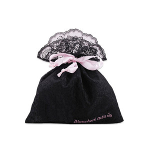 elegant satin bag with lace for lingerie