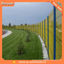 Cheap pvc coated metal fence panels/Powder Coated Welded Wire Mesh Fence