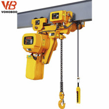 1320lb 1 ton electric chain hoist with monorail trolley lift garage winch