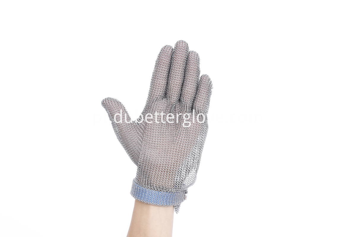 plastic strap mesh butcher gloves