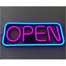 Sinal aberto da janela do diodo emissor de luz para a fonte de alimentação da venda