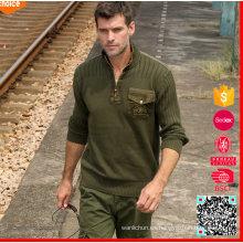 Suéter militar de los nuevos hombres de la manera de los militares militares uniformes del ejército de los suéteres del verde
