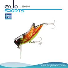 Приманка для рыболовов с наживкой Insect Bass Реалистичная кузнечик / кувшин для верховой рыбы Рыболовные снасти для приманки приманки приманки (IS0246)