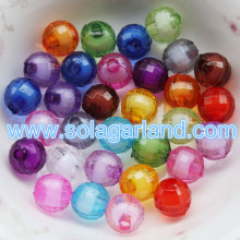8-20MM Acrylic Crystal Faceted Round Bead In Bead Style Chunky Gumball Beads