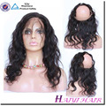 Factory wholesale price 100% virgin Brazilian hair ear to ear 360 lace frontal closure