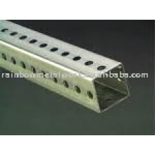 perforated Square Tube Traffic Sign Posts