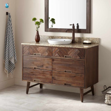 Muebles de baño Resistente al agua Tocador de baño moderno elegante Vanity Base única hecha en China
