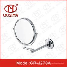 Único lado parede montado espelho cosmético redondo