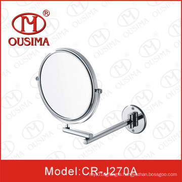 Single Side Wall Mounted Round Cosmetic Mirror
