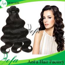 7А Бразильский волос Remy девственницы парика человеческих волос расширение