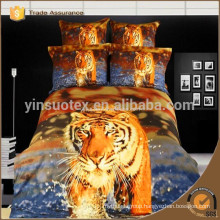 "New arrival"" 100%cotton 3D tiger print and animal print bed sheets /bedding set/duvet cover wholesale"