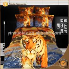 """Nova chegada """"100% algodão 3D tigre impressão e animal impressão folhas de cama / cama / set edredon atacado"""