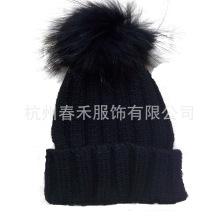 Новый стиль женщин вязаные шерстяные шапки / вязание Hat с мехом POM Poms / трикотажные шапочка Hat с мехом POM POM