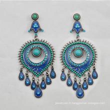 VAGULA Antique bijoux en alliage argent plaqué boucles d'oreilles pour femme cadeaux