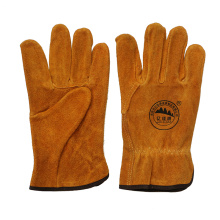 Cow Split Leather Safety Protective Work Driving Gloves