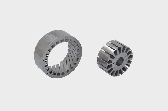 Motor stator and rotor brushless