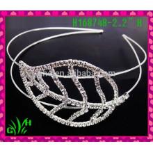 Nouveau design en gros, diadème de mariage en strass, princesse tiara, couronne