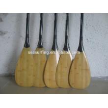paletas de tablero de SUP de carbono de bambú de alta calidad
