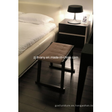 Estilo italiano cuero madera asiento taburete (C44)