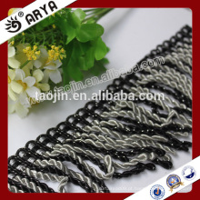 2016 Stock Product Hot Sale para Home Textile of White and Black Bullion Trimming Fringe