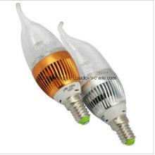 E14 Ce e Rhos 3W LED luz da vela