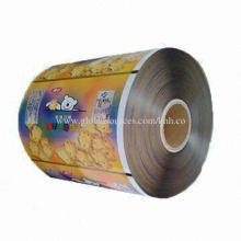 Laminated Automatic Packaging Film Roll for Tomato Sauce or Biscuits, Made of Laminated Compound