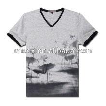 13ST1006 moda masculina em torno do pescoço camiseta design