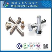 Taiwan Edelstahl 18-8 verchromt Stahl vernickelt Stahl Kupfer Messing Semi Tubular und Solid Niet