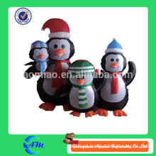 Familia del pingüino inflable, pingüino gigante, pingüino inflable