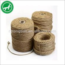 Corde de jute de corde de chanvre naturel de 2-40mm pour l'artisanat d'art