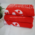 100% Cotton Red Custom Printed Beach Towel
