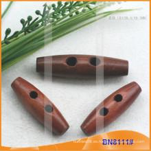 Moda de madera natural cuerno botón para las prendas de vestir BN8111
