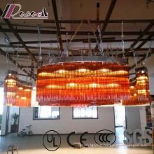 Hotel Lobby Decorative Champaign Gold Round Crystal Chandelier