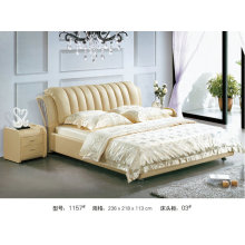 Modern Leather Bed, Australia Bed, China Bed (1157)
