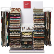 Suporte comercial de tapeçarias Display Metal Rack Venda por atacado Store Fixures Rug Display Rack For Sale